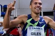 Elliot Giles breaks Seb Coe's 800m GB record